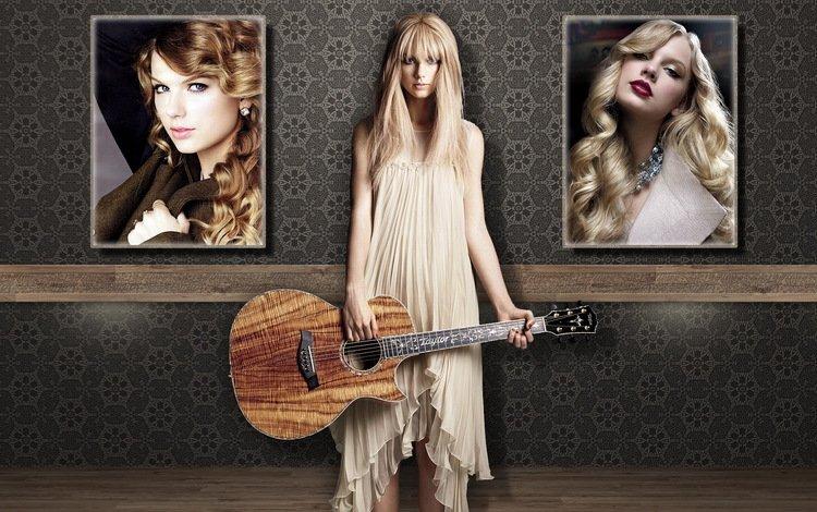 девушка, гитара, тейлор свифт, kartinka, oboi, muzyka, iskusstvo, stil, girl, guitar, taylor swift, skill