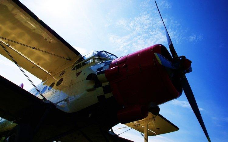 пропеллер, nebo, ayeroplan, propeller