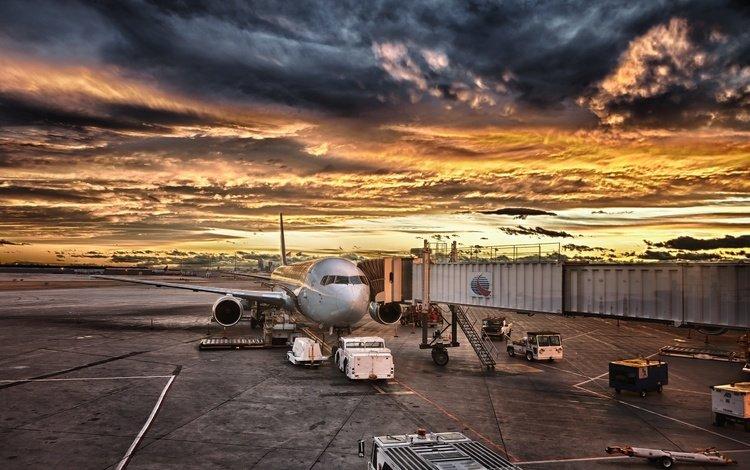 самолет, aviaciya, ayeroport, the plane