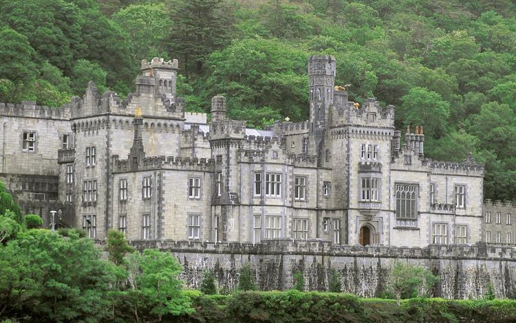 ирландия, коннемара, аббатство килмор, графство голуэй, ireland, connemara, abbey kilmore, county galway