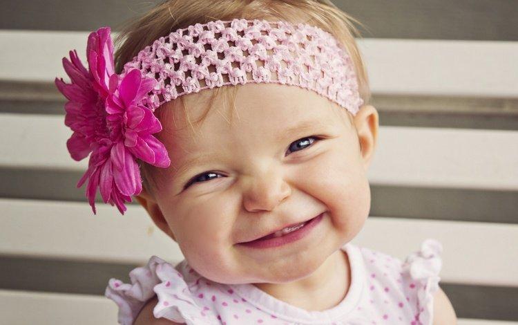 настроение, малышка, цветок, улыбка, дети, девочка, ребенок, повязка, позитив, mood, baby, flower, smile, children, girl, child, headband, positive