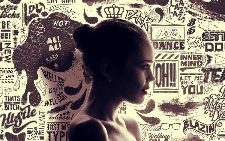 девушка, профиль, фэнтези искусства, конни нильсен, girl, profile, fantasy art, connie nielsen