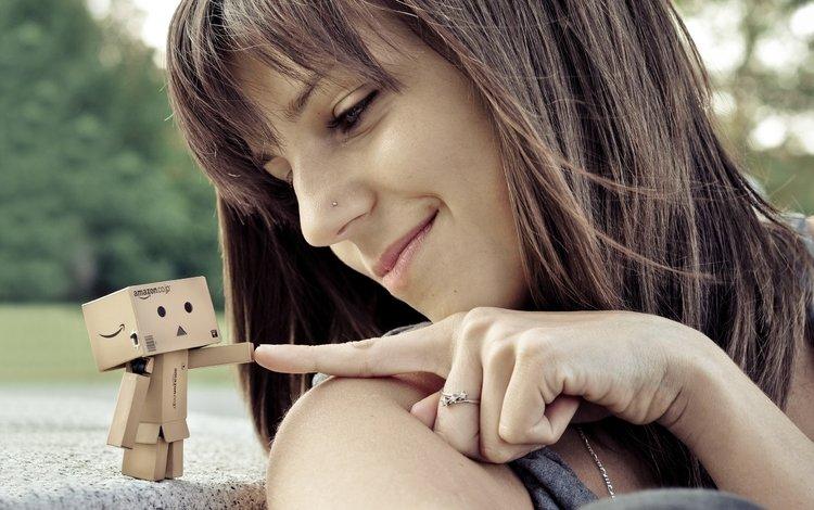 девушка, робот, данбо, korobka, kartonnaya, pirsing, ul, girl, robot, danbo, box