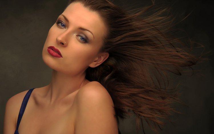 девушка, veter, volosy, портрет, dzhesika, vzgrustnulos, взгляд, джесика, модель, волосы, лицо, ветер, длинные волосы, girl, portrait, look, model, hair, face, the wind, long hair