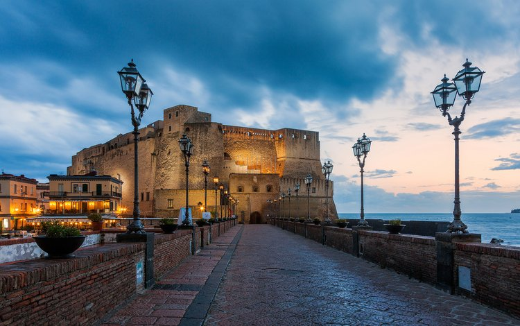 замок, италия, неаполь, castle, italy, naples