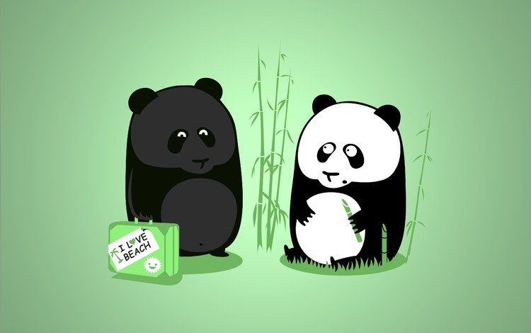 панда, zagar, otpusk, panda