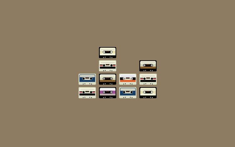 ретро, kreativ, minimalizm, kassety, retro
