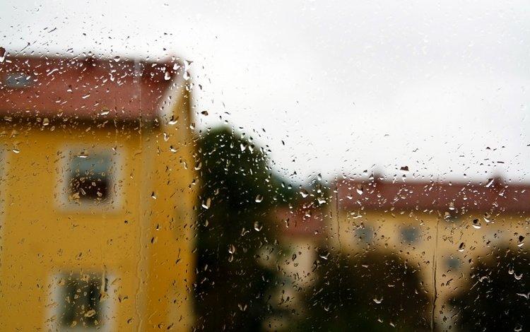 voda, dozhd, okno, steklo