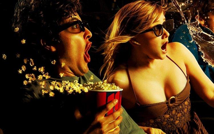 девушка, поп, paren, v kinoteatre, burnye yemocii, girl, pop