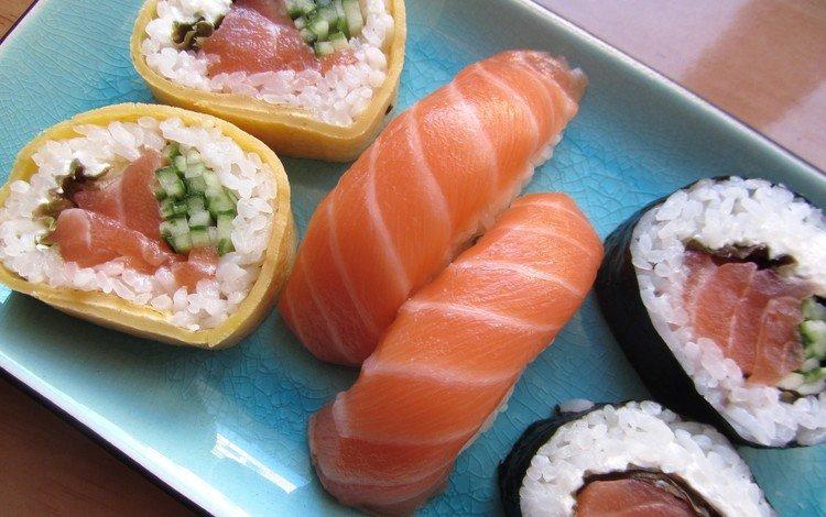 рыба, рис, суши, роллы, морепродукты, лосось, fish, figure, sushi, rolls, seafood, salmon