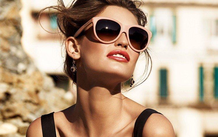 девушка, бьянка балти, портрет, бьянка бэлти, очки, волосы, губы, лицо, макияж, красивая, girl, bianca balti, portrait, glasses, hair, lips, face, makeup, beautiful