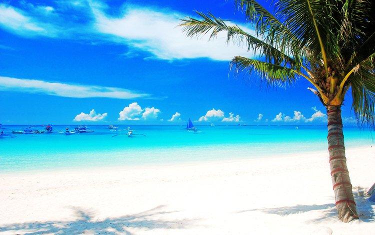 море, пляж, лодки, тропики, sea, beach, boats, tropics