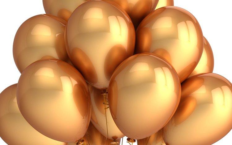 шары, золото, balls, gold
