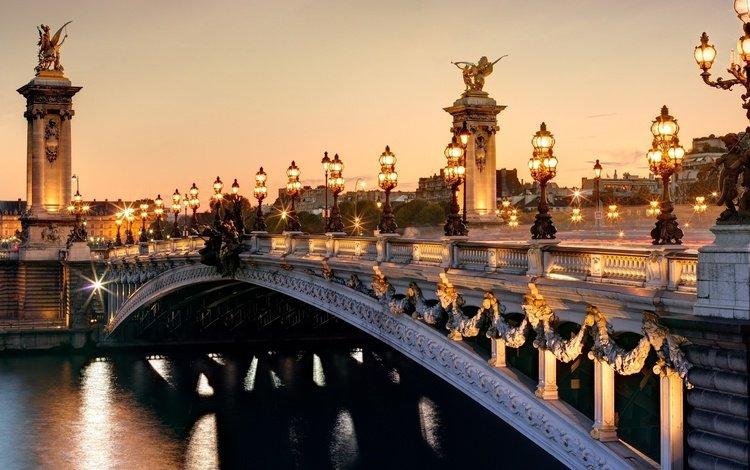париж, франция, мост александра iii, франци, paris, france, pont alexandre iii