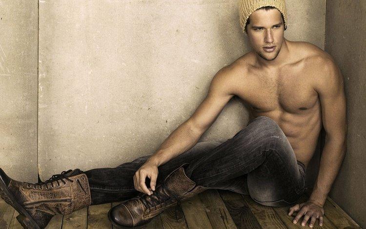 парень, джинсы, обувь, шапочка, arthur sales, guy, jeans, shoes, cap
