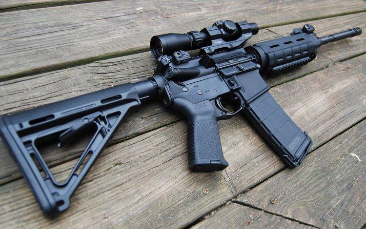 board, optics, machine, assault rifle, m4