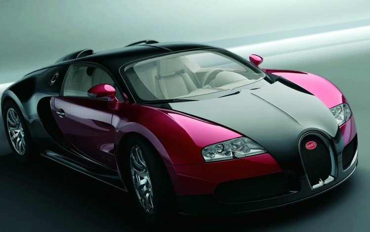 авто, бугатти, черно-красный, auto, bugatti, black and red