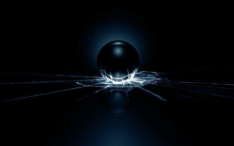свет, трещины, шар, стекло, light, cracked, ball, glass