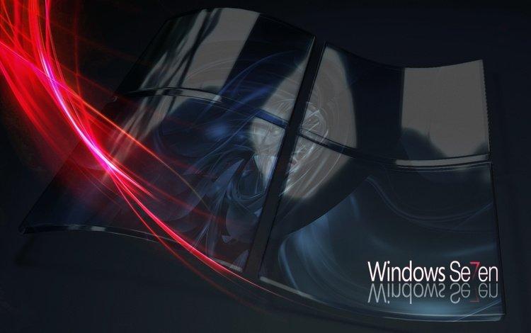 лого, линий, семерка, windows seven, майкрософт, windows 7 3d abstract, винда, logo, lines, seven, microsoft, windows