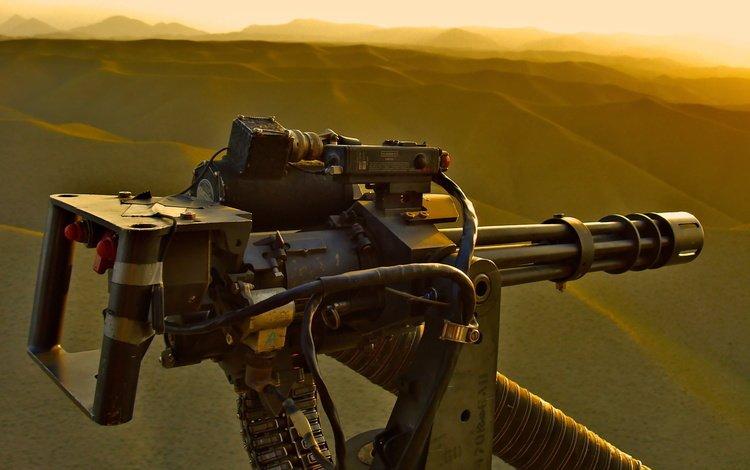 machine gun, minigun