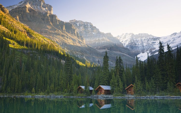 озеро охара в канаде, lake o'hara in canada