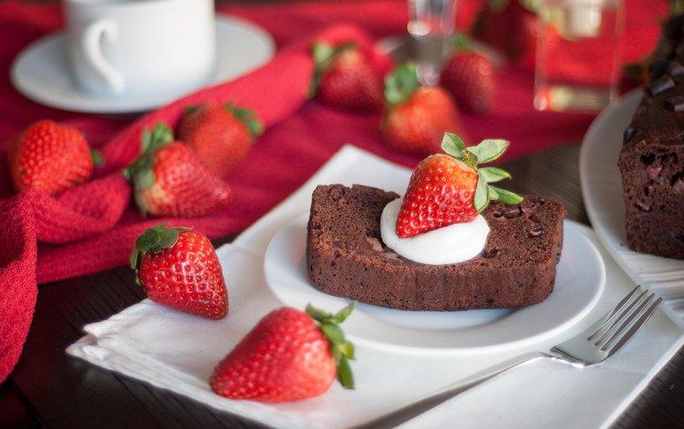 еда, клубника, ягоды, сладкое, торт, десерт, пирожное, food, strawberry, berries, sweet, cake, dessert