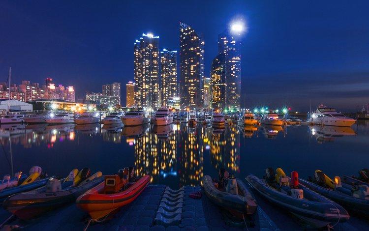город, лодки, причал, пристань, катера, the city, boats, pier, marina