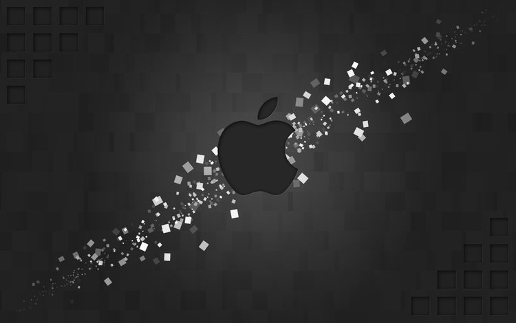 логотип, мак, фигуры, бренд, прямоугольники, hi-tech, эппл, logo, mac, figure, brand, rectangles, apple