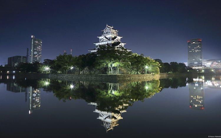 замок хиросима (япония), hiroshima castle (japan)