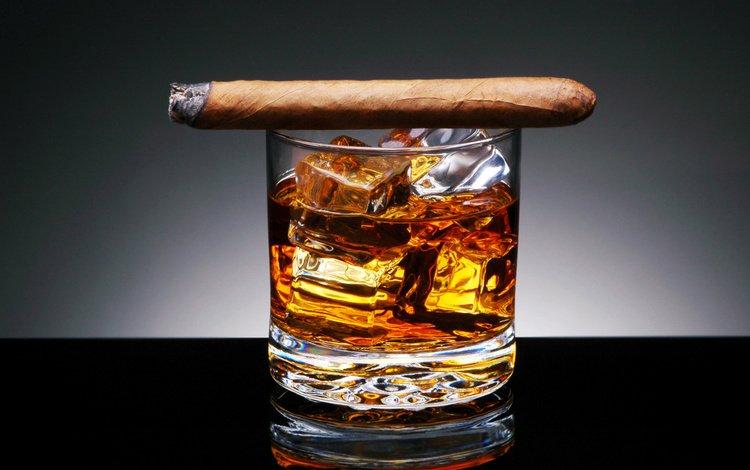 фон, напиток, сигара, льда, табак, спиртное, стакан.кубики, background, drink, cigar, ice, tobacco, alcohol, glass.cubes