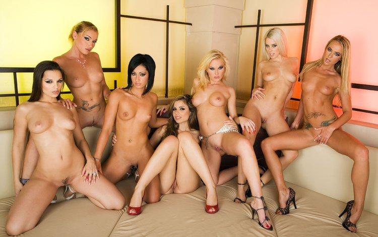 порно фото много женщин