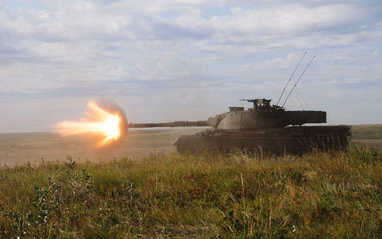 трава, огонь, танк, боевой, канадский, leopard-c2, grass, fire, tank, combat, canadian