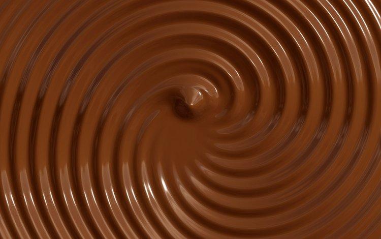 текстура, круги, шоколад, жидкий, коричневый фон, texture, circles, chocolate, liquid, brown background