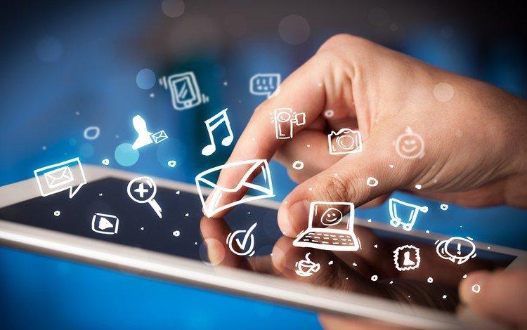 технологии, иконки, гаджет, планшет, technology, icons, gadget, tablet