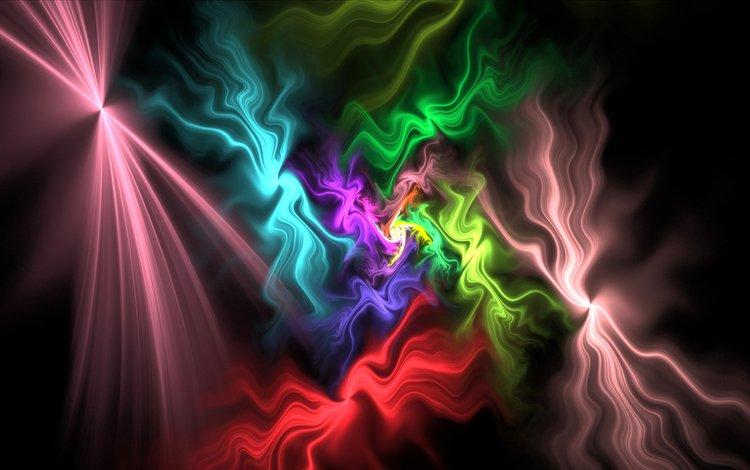 свет, узор, цвет, дым, фрактал, газ, light, pattern, color, smoke, fractal, gas