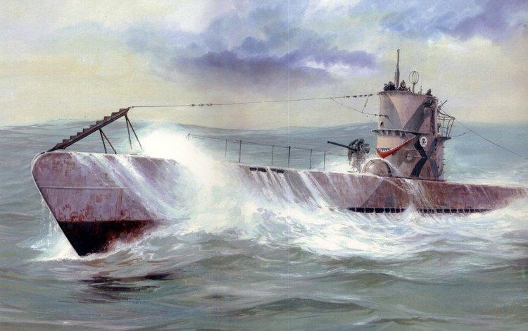 art, wave, sea, war, squirt, german, diesel