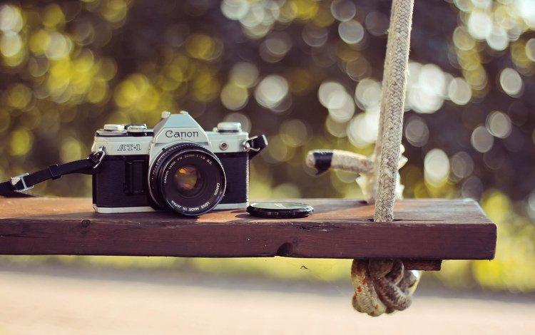 качели, канон, фотокамера, swing, canon, the camera