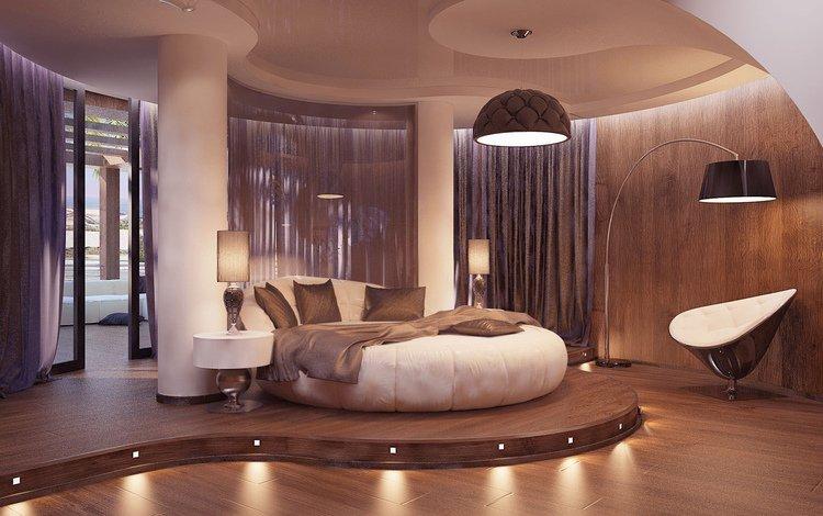 стиль, интерьер, кресло, кровать, спальня, лампы, style, interior, chair, bed, bedroom, lamp