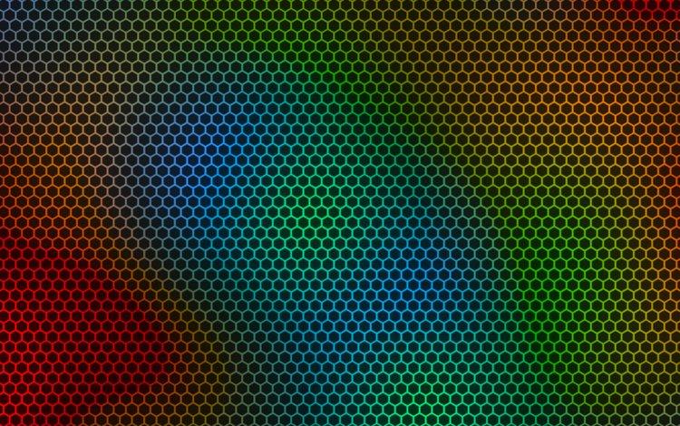 абстракция, цвет, сетка, соты, abstraction, color, mesh, cell