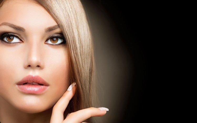 девушка, портрет, взгляд, модель, волосы, лицо, макияж, girl, portrait, look, model, hair, face, makeup