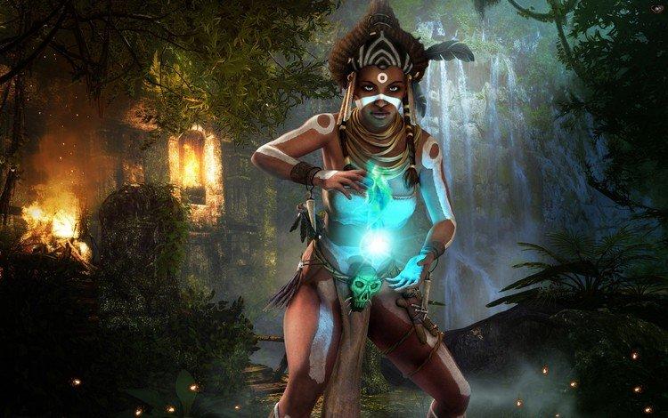 light, witchcraft, enchantment, shaman