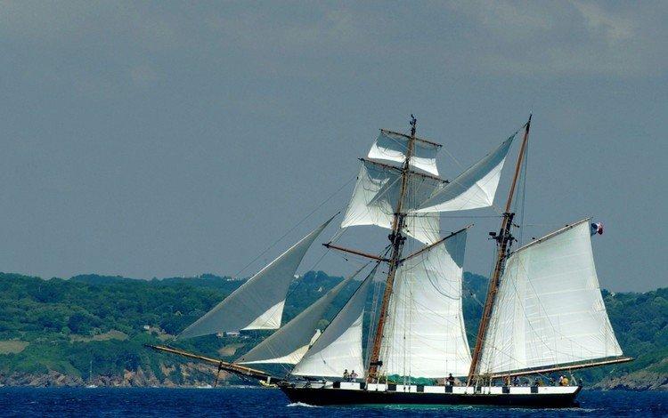 море, корабль, парусник, sea, ship, sailboat