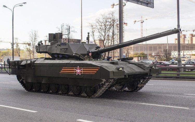 танк, георгиевская ленточка, 2015 год, армата, т14, tank, george ribbon, 2015, armata, t14