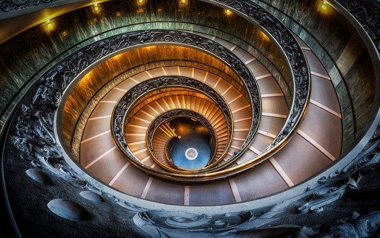 лестница, италия, ватиканский музей, ladder, italy, the vatican museum