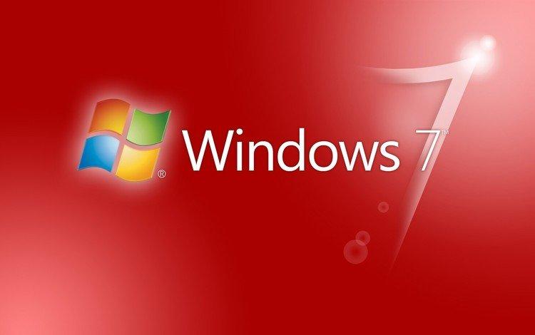 фон, красный, логотип, windows 7, эмблема, ultimate, винда, background, red, logo, emblem, windows