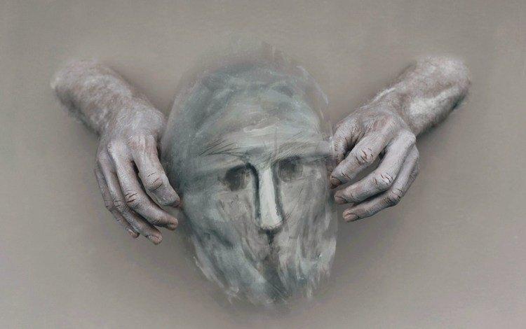 фон, маска, руки, background, mask, hands