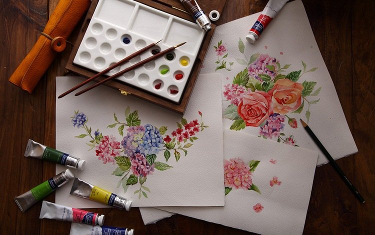 краски, рисунки, кисточки, изобразительное искусство, paint, drawings, brush, fine art