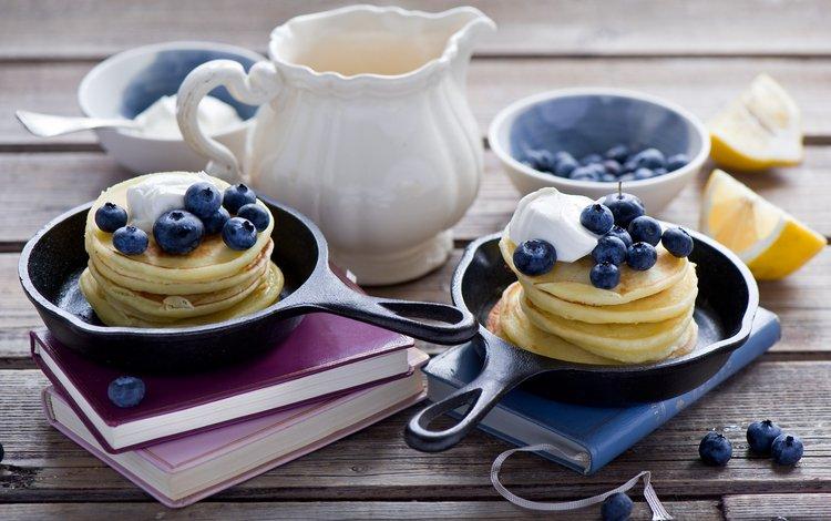 ягоды, черника, выпечка, блины, натюрморт, anna verdina, berries, blueberries, cakes, pancakes, still life
