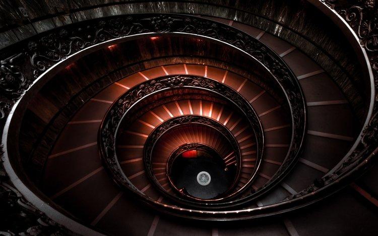 лестница, италия, спираль, ступени, ватиканский музей, спупеньки, ladder, italy, spiral, stage, the vatican museum, spomeniki