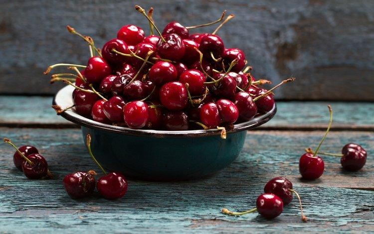 черешня, спелая, ягоды, вишня, сочная, миска, cherry, ripe, berries, juicy, bowl